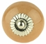 Tan Ceramic Knob w/ Nickel Backplate - 1 1/2""