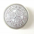 White Cloisonn? Tribal Pattern Knob - 42mm LQ-PBF560Y-W-C
