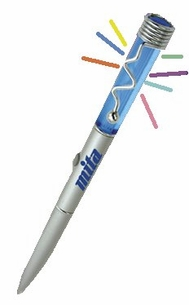 7 Color Lighted Pen Bulk Special - 100 pc. Min.