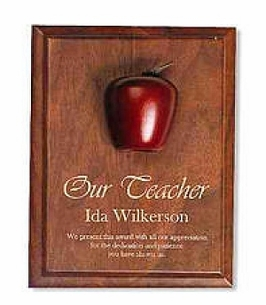Apple on Walnut Plaque Award