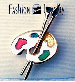 Artists Palet Pin - $5.95  CLOSEOUT! -only  11 left!