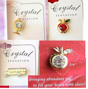 Assorted Styles - Genuine Austrian Crystal Lapel Pins