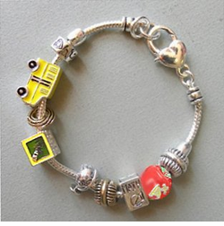 Back in Stock!  Pandora Style Bracelets for Teachers