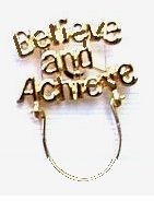 """Believe & Achieve"" Charm/Eye Glasses/Badge Holder"