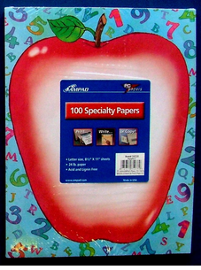 Big Apple & Teacher Letter Paper - 100 pak - 2 styles