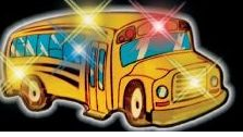 Blinking School Bus Pin