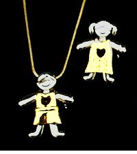 Boy or Girl Pendant/Pin