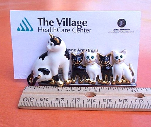 Cat family business card holder click to enlarge family of kitties business card holder reheart Gallery