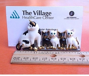 "Cat ""Family"" Business Card Holder"
