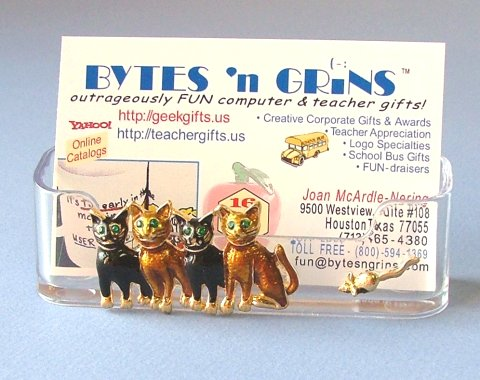 Cat theme business card holders click to enlarge colourmoves