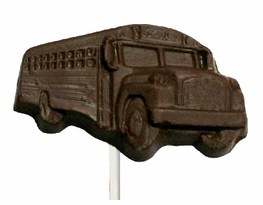 Chocolate School Bus Pop on a Stick