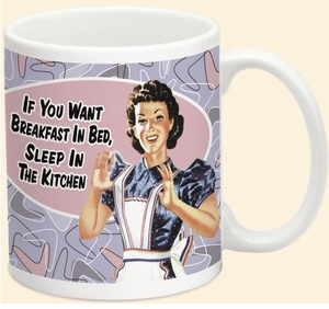 CLEARANCE! Retro 50's Humorous  Attitude  Ceramic Mugs . . .