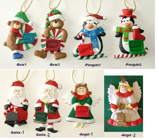 Save on these very affordable computer ornaments. - Computer Bread Dough Style Christmas Ornaments -CLOSEOUT!