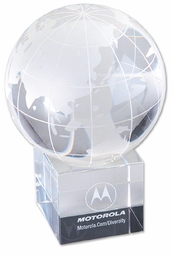 Corporate Engraved & Imprinted Crystal Globes