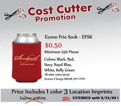Cost Cutter Pocket Koozies only .50 each!