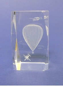 Crystal Hot Air Balloon Lazer Crystals -5 styles-with optional lighted base,  -ON SALE!