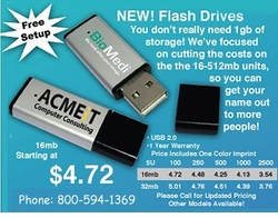 Custom printed economy Flash Drive