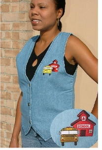 Denim School Bus & Teacher Vest ON SALE!