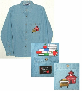 Denim Teacher & School Bus Shirts - 2 Comfortable Styles