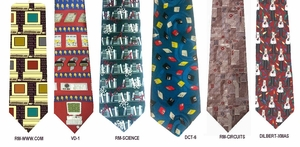 Designer Silk Computer Neckties <BR>Now Up to 75% OFF! <BR> R. Marlin, Dilbert, Vickie Davis and more
