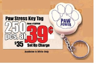 Economy Paw Print Key Ring-ON SALE!