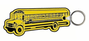 Economy Soft Vinyl School Bus Key Tags - in Quantity - as low as .59 ea.