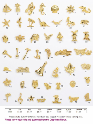 Economy Stock Recognition Pins as low as $1.28 ea. - Ready to ship!