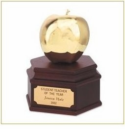 Elegant 24 kt Golden Apple Award