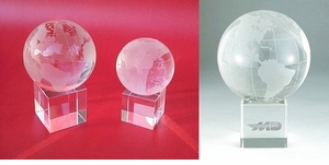 Elegant Crystal Globes on Pedistal base