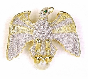 Embellished Spread Wing <BR>Eagle Pin