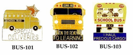 Enamel School Bus Lapel Pins