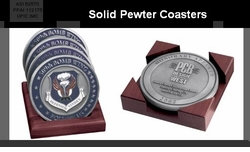 Executive Image  <BR>Solid Pewter Coasters
