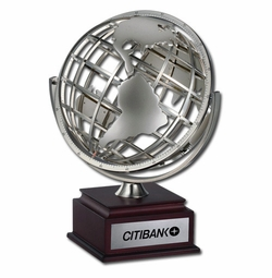 Executive Size Openwork Metal Globe