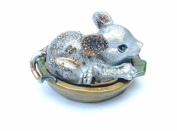 Faux Limoges Enamel Mouse Hinged Box -1/2 Price!