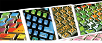 Funky Keyboard Decor Stickers - HALF PRICE!