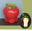 Giant Red Apple Ceramic Cookie Jar - 2 Styles - ON SALE!