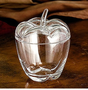 "Godinger Pretty 6-1/2"" Apple Covered Jar"