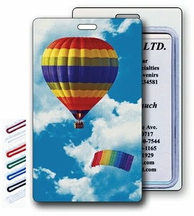 Hot Air Balloon LENTICULAR Trading Cards or Luggage Tags