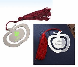 Imprinted or Engraved Apple Bookmark