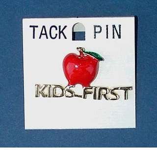 Kids First Apple-Tack Pin