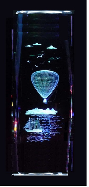 Large Crystal Hot Air Balloon Figurines on lighted base ON SALE!