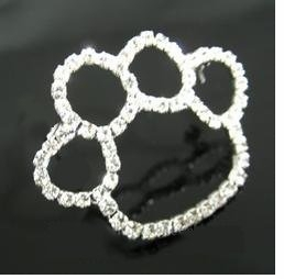 Large Rhinestone Paw Fashion Pin