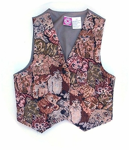 Lots of Cat Lovers <BR>Tapestry Vests<BR>