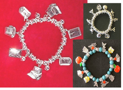 Lots of School Theme Stretch <BR>Bracelets - ON SALE! - Click Here
