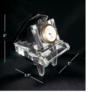 Mini Crystal Grand Piano Clock