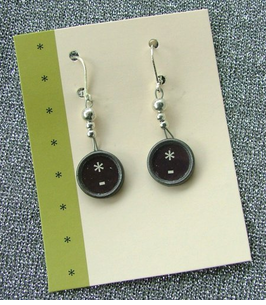 """Miss Clickity Clack"" Sterling Earrings  & Neclace"