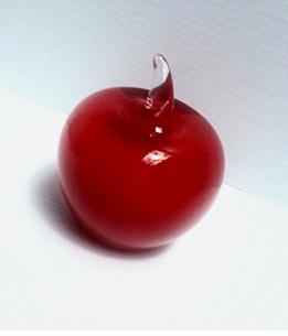 IN STOCK! Value Priced Murano style Artistic Glass 3.5 inch Red Apple from Badash