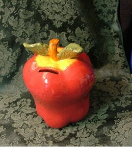 Ceramic Apple Bank - ON SALE!