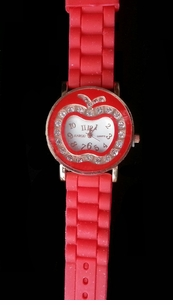 NEW Colorful Apple Face Rhinestone Watches-ON SALE!