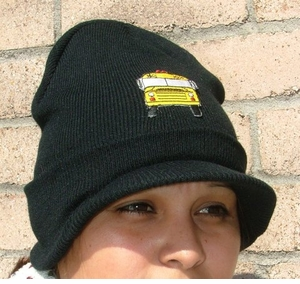 NEW! Comfy Winter Pull-down Cap for School Bus Drivers, BACK IN STOCK!